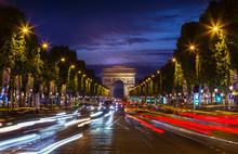 Arc De Triomphe Against Blue S...