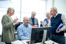 Active Seniors Attending Compu...