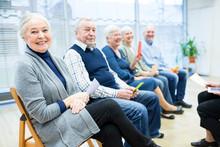 Seniors In Retirement Home Att...