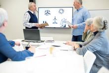 Active Seniors Attending Course On Renewable Energy
