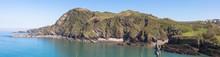 Views Of Ilfracombe Harbour Looking Towards Beacon Point, Devon, UK