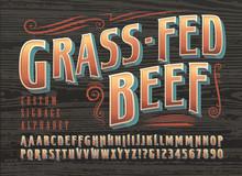 Grass-Fed Beef Custom Signage ...