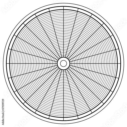 Obraz na plátně Circle diagram illustration