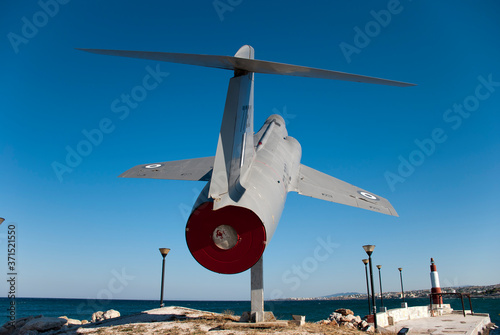 Canvas Print Athens, Greece, August 2020: Retired Lockheed F-104 Starfighter jet