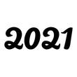 ''2021'' lettering illustration