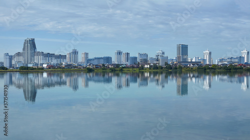 Fototapety, obrazy: view of the modern Minsk from the side of the reservoir Drozdy