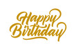 happy birthday card, text or lettering. Vector script and handwritten typography. vintage style word for note, sign, banner. Isolated.