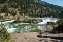 The Kootenai Falls And River Near Libby, Montana In The Kootenai National Forest
