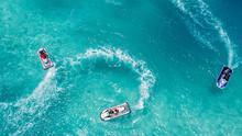 Jet Ski, Tropical Ocean Aerial View