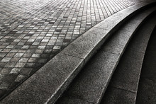 Monochrome Photo Of Stone Step...