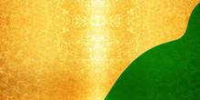金と緑の背景素材