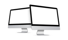 Two Modern Desktop PCs With Pe...