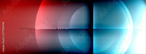 Foto Vector abstract background - circle and cross on fluid gradient with shadows and light effects