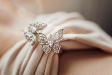 Jewelry In The Form Of Two Flu...