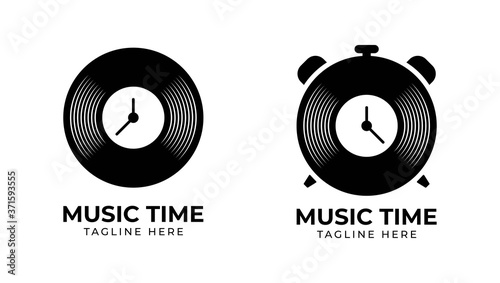 Music Time logo template, vector illustration icon element - Vector Fototapete