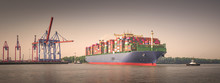 Panorama Of A Large Container ...