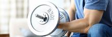 Close-up Of Bodybuilder Traini...