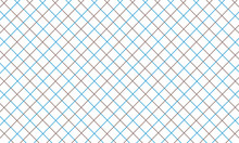Blue And Brown Intersecting Square Lattice Pattern On A White Background Vector