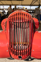 Customised Car Engine And Grill On The Road