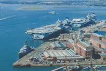 Vessels At Portsmouth, England