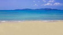 Beautiful Sea With Sunshine And Waves.:Location Hat Sor, Sattahip District, Chon Buri Province, Thailand