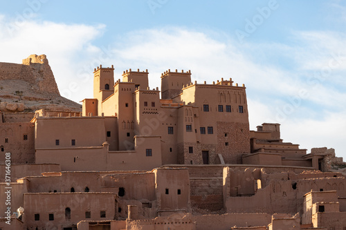 Photo Ait Ben Haddou ksar Morocco, ancient fortress that is a Unesco Heritage site