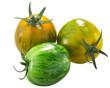 Green Zebra heirloom tomatoes  isolated