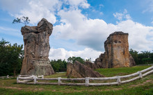 Landscape, Ancient Rock Formations, Nature And Blue Sky (Mor Hin Khao)