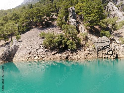 Obraz na płótnie Landscape, Turkey, Green canyon, mountains,
