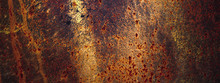 Panoramic Grunge Rusted Old Me...