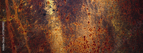 Papel de parede Panoramic grunge rusted old metal texture