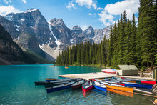 Moraine Lake During Summer In ...
