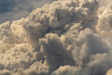 Dramatic Billowing Smoke From A Wildfire In The Nevada Desert.