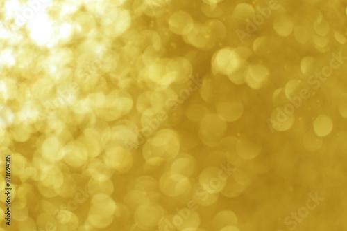 Fototapeta Bright round golden yellow color light bokeh obraz na płótnie