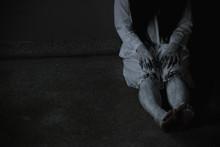 Woman Ghost Horror Sitting Nea...