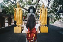 Asian Tourist Woman Visiting S...