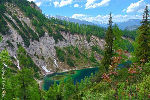 Fototapeta lake in the mountains, Tauplitzalm Austria