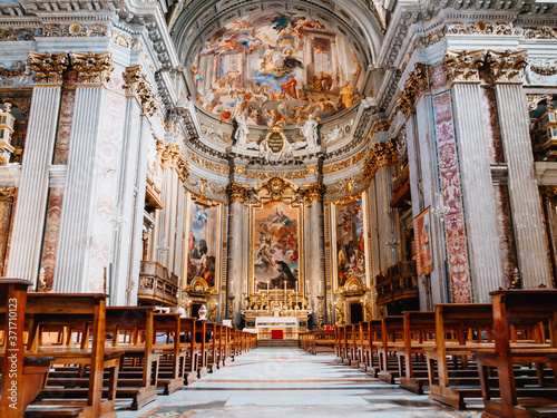 Tela The interior of Sant'Ignazio, Rome