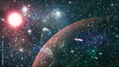 Fotografie, Obraz Galaxy creative background