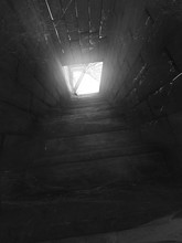 Stairs To Abandoned Attic