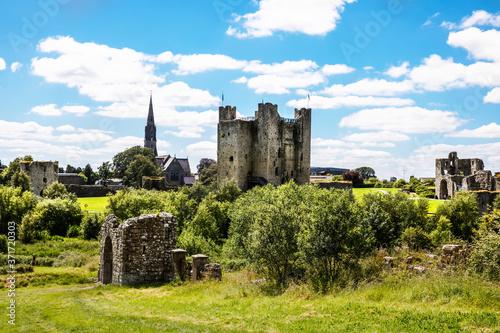 Fotografia, Obraz A panoramic view of Trim castle in County Meath on the River Boyne, Ireland