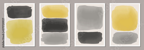 Fotografie, Obraz Trendy set of abstract creative minimalist artistic hand painted compositions