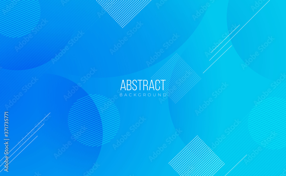Fototapeta Modern professional blue vector Abstract Technology business background with lines and geometric shapes