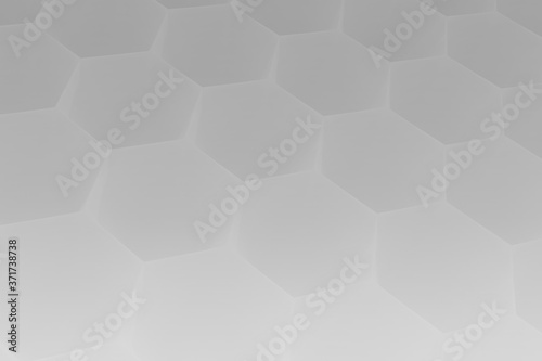 Fototapety, obrazy: Hexagon 3D abstract background. Bees cells honeycomb texture. Three-dimensional render illustration.