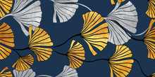 Seamless Gold And Silver Pattern For Background