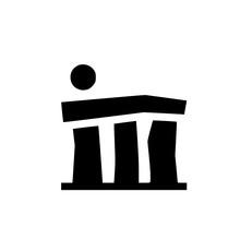 Stonehenge Icon Filled Flat Si...