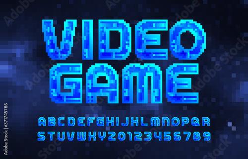 Photo Video Game alphabet font