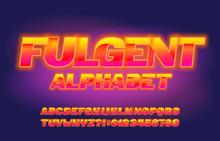 Fulgent Alphabet Font. Shining...
