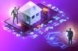 Leinwanddruck Bild - Concept of buying insurance online over internet