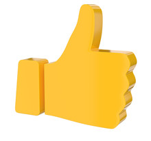 Thumb Up Sign 3d Rendering
